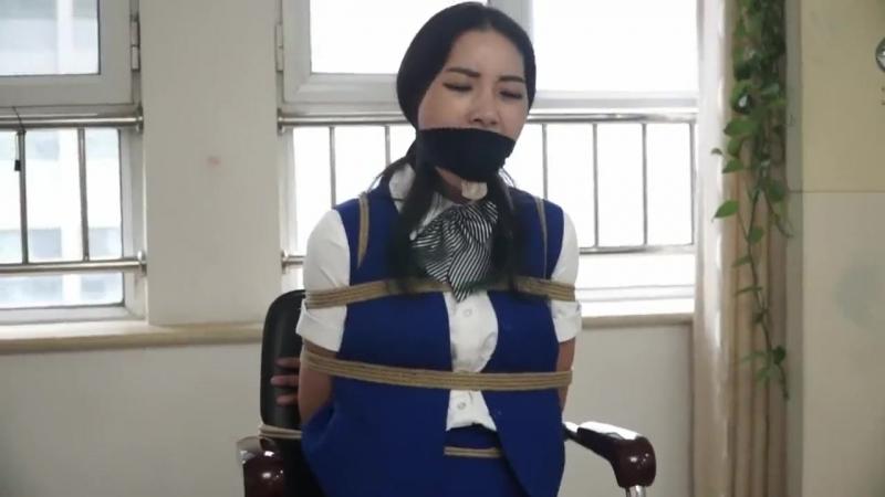 Sexy chinese stewardess Bondage