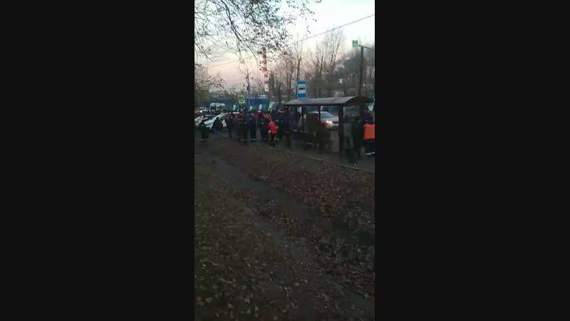 Пожар на МНПЗ Москвы