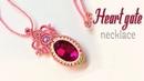 How to make macrame necklace the Heart gate - hướng dẫn thắt mặt dây chuyền bọc đá