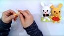Amigurumi tavşan kol ve bacak yapımı anahtarlık çanta süsü rabbit hand and foot construction -1