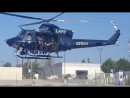 LAPD SWAT take off for training with LAPD AIR SUPPORT
