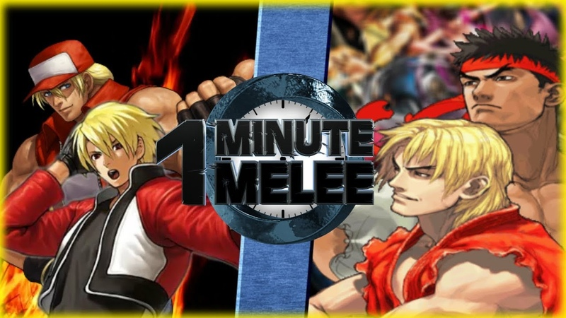 Rock Terry vs Ken Ryu (King of Fighters vs Street Fighter) - One Minute Melee S6 EP14