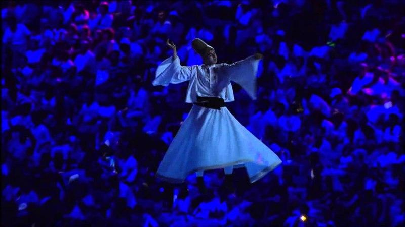 2013 Mersin Akdeniz Oyunları Açılış Töreni Sema Gösterisi Mediterranean Games Opening Great Sema