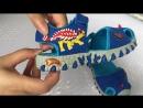 СВЕТЯЩИЕСЯ ПРОТИВОУДАРНЫЕ 3D САНДАЛИИ «DINOSKULLS» ANKILOZAVR BLUE