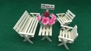 How to Make Miniature Table and Chairs Popsicle Stick