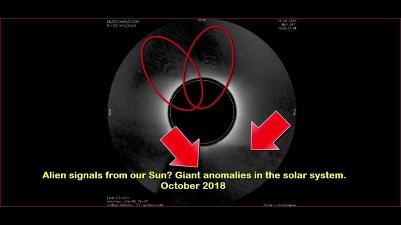 Alien signals from our Sun Giant anomalies in the solar system. October 2018