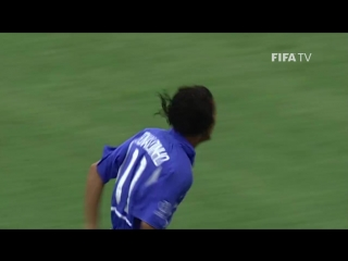 ЧМ-2002. Гол Роналдиньо в ворота сборной Англии