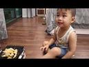 BiBo TV: Minh pig tried to eat Chinese spicy chicken legs - Minh lợn thử sức ăn chân gà cay Tung Của