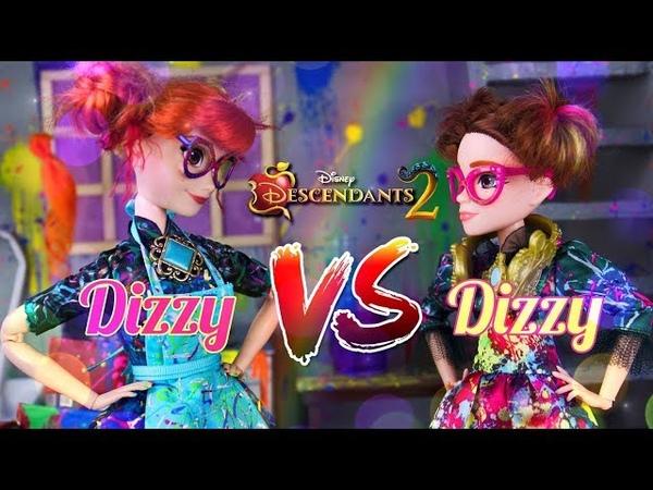 VERSUS: Disney Descendants 2 Custom Dizzy Doll VS Hasbro Official Dizzy Doll