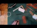 Простой чехол из кожи для складного ножа