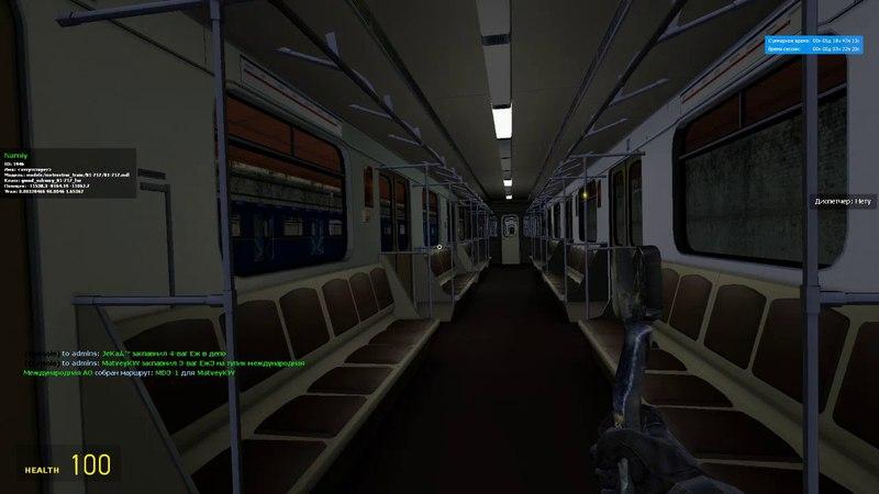 Garry's Mod Metrostroi: Запуск 81-717 лвз и выезд из депо