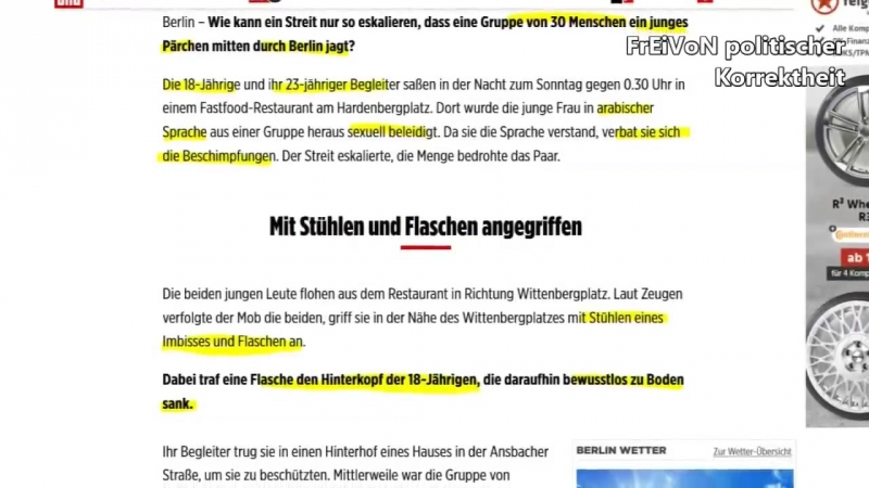 Araber Mob greift Pärchen an und jagt es durch Berlin Buntland HD 720p смотреть онлайн без регистрации