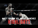 Diego Sanchez vs. Matt Brown  Fight Highlights  HD