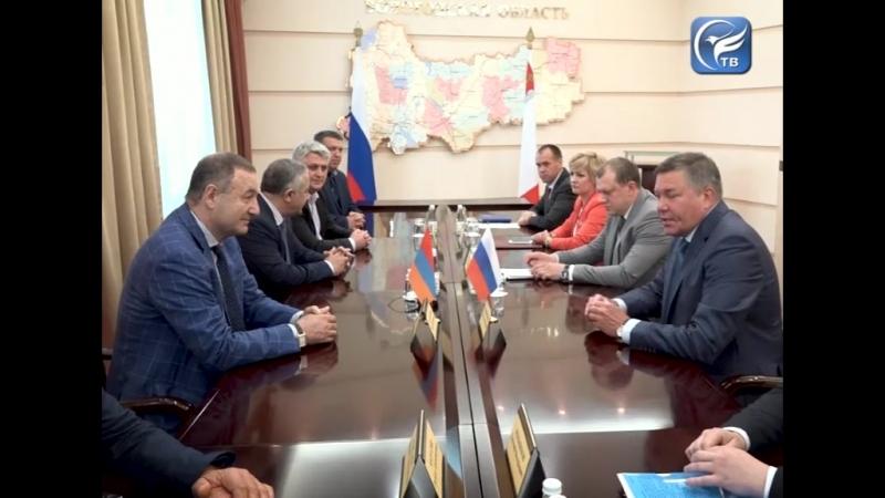 Вопросы развития внешнеторгового оборота между предприятиями Вологодчины и Армении обсудили в области