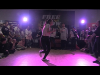 Free Flow Fest 2017.  Dancehall begginers FINAL. Воронина Марина vs. Татьяна Некрасова
