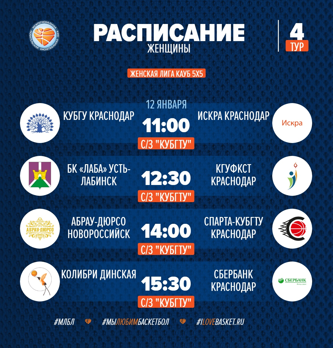 Женская лига КАУБ 5х5 Краснодар
