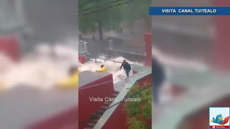 Así fue el desbordamiento de la Presa de la Olla Video Guanajuato bajo el agua