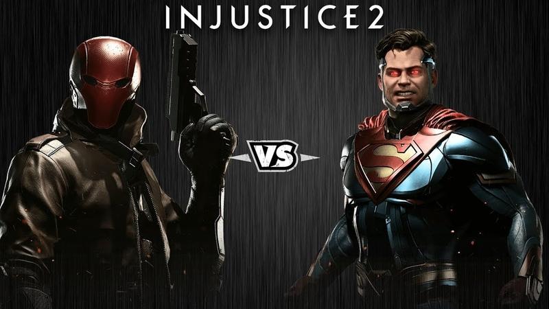 Injustice 2 - Красный Колпак против Супермена - Intros Clashes (rus)