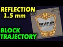 Der Materialspezialist REFLECTION 1.5 mm - разница траекторий блока с YINHE Apollo 5 sponge 37
