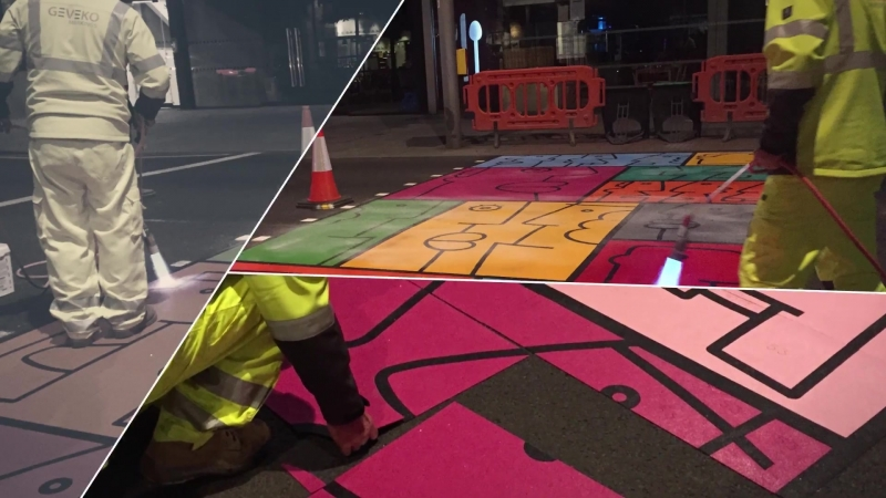 Creative pedestrian crossing from artist Thierry Noir
