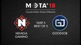 Nemiga Gaming vs GoodJob, Map 4 МЭТА`18. Winter
