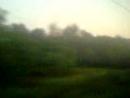 Наше возвращение домой. Туманное утро из окна поезда. 12.07.2018