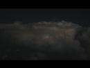 Вид на грозу с борта самолета Кентукки США 21 07 2018