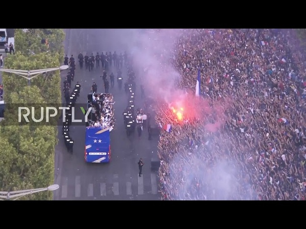 France: Paris honours World Cup heroes with huge victory parade