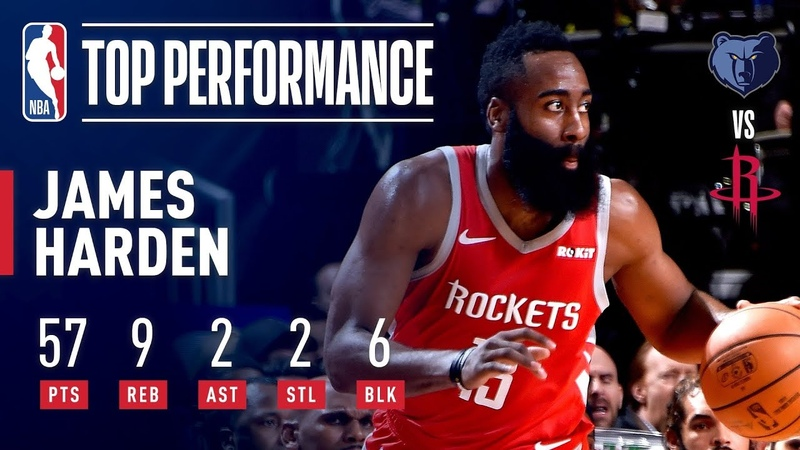 James Harden's EPIC 57 Point Performance | January 14, 2019 NBANews NBA Rockets JamesHarden