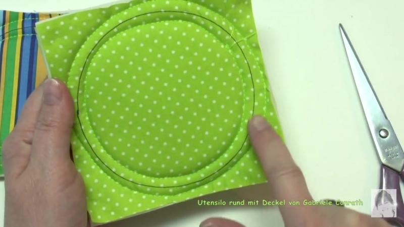 Ein besonderes Utensilo rund mit Deckel, der nicht verloren gehen kann nähen