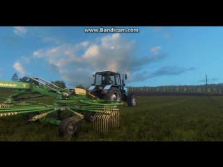 Farming Simulator 17 [ MTZ 1221 with  Krone Swadro ]