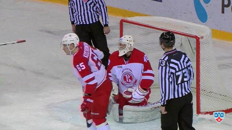 Моменты из матчей КХЛ сезона 14 15 Гол 1 1 Зарипов Данис Металлург Мг добил с пятака 22 12