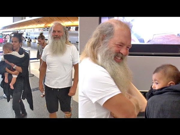 Producer Rick Rubin Takes His Adorable New Baby Boy On A Flight Out Of LAX