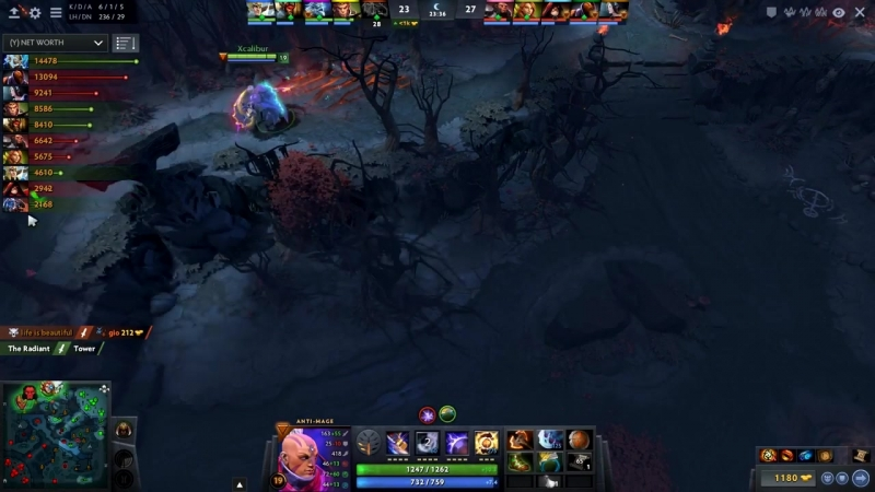 When TOP-10 Miracle- Gets Counterpicked by TOP-1 Best Anti-Mage Xcalibur - Dota
