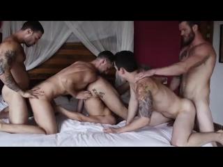 LUCASENTERTAIMENT - Shawn, Carlos, Aaden, Damon, Dakota Bareback Five-Way