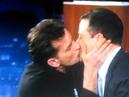 CHARLIE SHEEN KISSES JIMMY KIMMEL