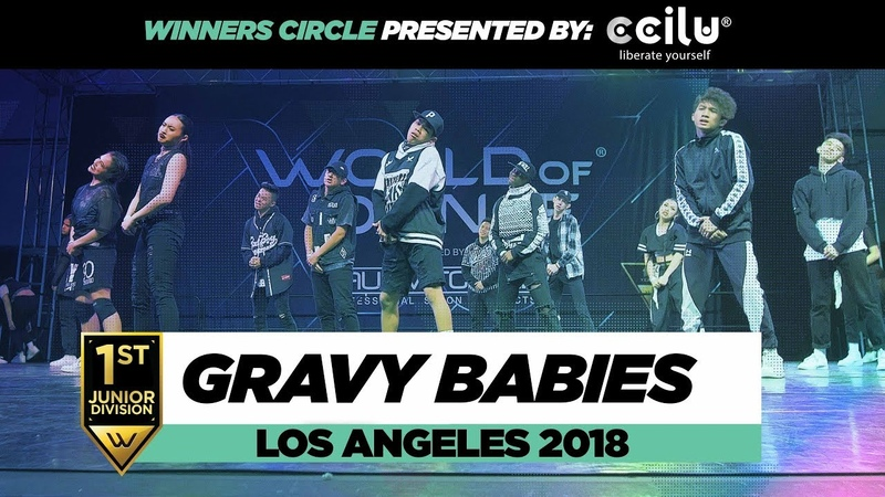 GRaVy Babies 1st Place Junior Division Winners Circle World of Dance Los Angeles 2018