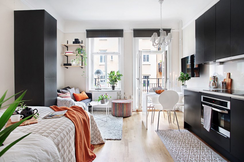 Маленькая шведская квартира-студия 21 м.