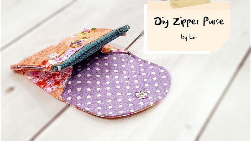 Diy Purse with zipper   Best sewing tutorial【实用小钱包教学】简易版HandyMun❤❤