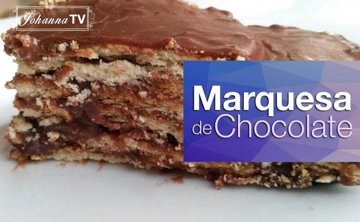 Marquesa de Chocolate muy fácil y deliciosa!