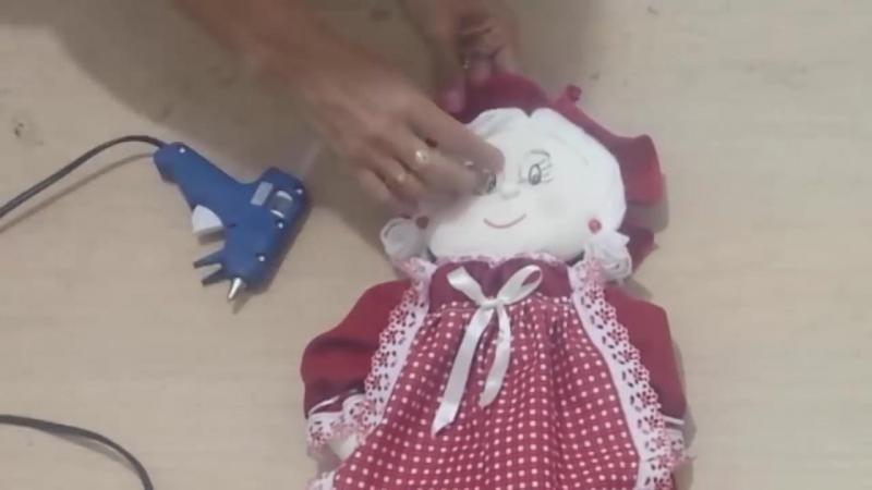 Бабуся -пакетница. PUXA SACO DE MAMÃE NOEL