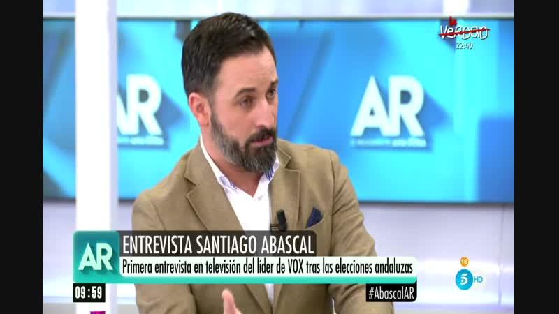 Entrevista Ana Rosa a Santiago Abascal (Vox) tras Andaluzas X-5-12-18 Fragmentos 9h19m a 10h18m y Archivo 2013