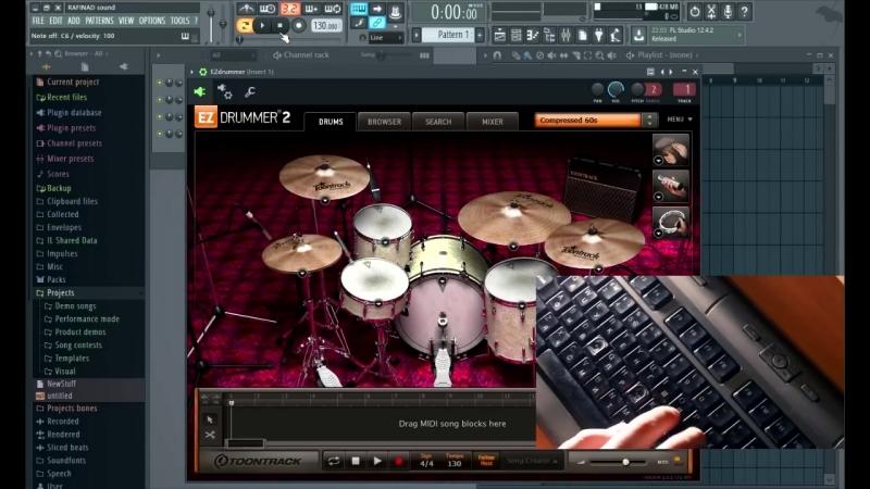 RAFINAD Sound Клавиатура вместо синтезатора Ударные в FL Урок 5
