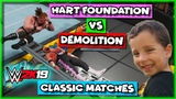 WWE 2K19 Classic Matches - Hart Foundation vs Demolition (Tag Team Championship Match)