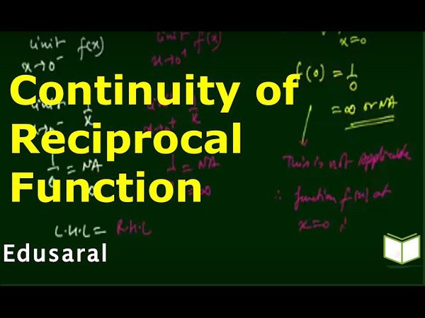Continuity of Reciprocal Function | Continuity | Ch-5.2e - 12th Std NCERT | Edusaral