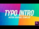 Typography Intro Motion Graphics Template |After Effects templates|videohive