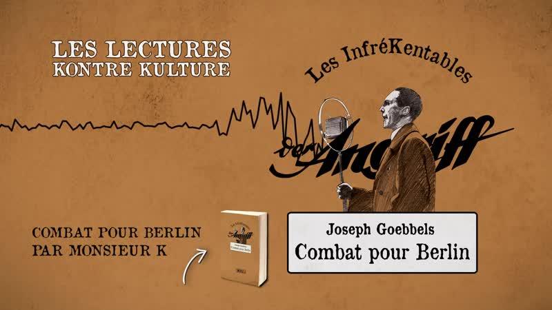 Monsieur K. présente l'édition Kontre Kulture de Combat pour Berlin 📻