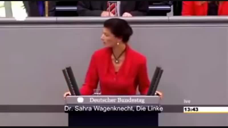 Сара Вагенкнехт режет правду матку о пронатовской хунте, захватившей Украину!
