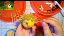 DIY ёжик из винограда и груши