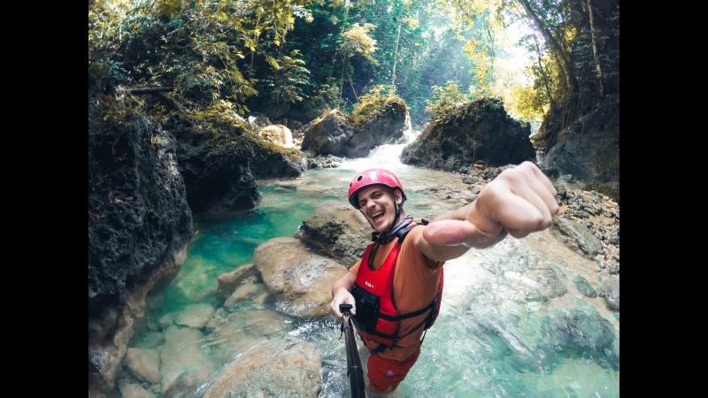 Каньонинг. Водопады Кавасан, Филиппины